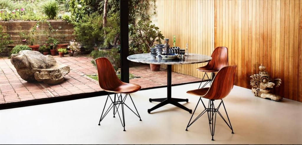 Capture - Eames Molded Plywood Chair, Eames Contract Base Table