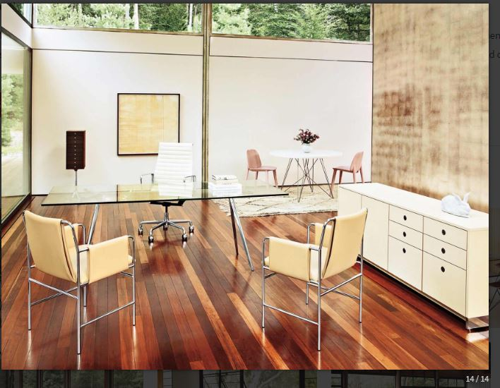 Capture - Envelope Chair, Baguatte Table,  Eames Aluminium Chair