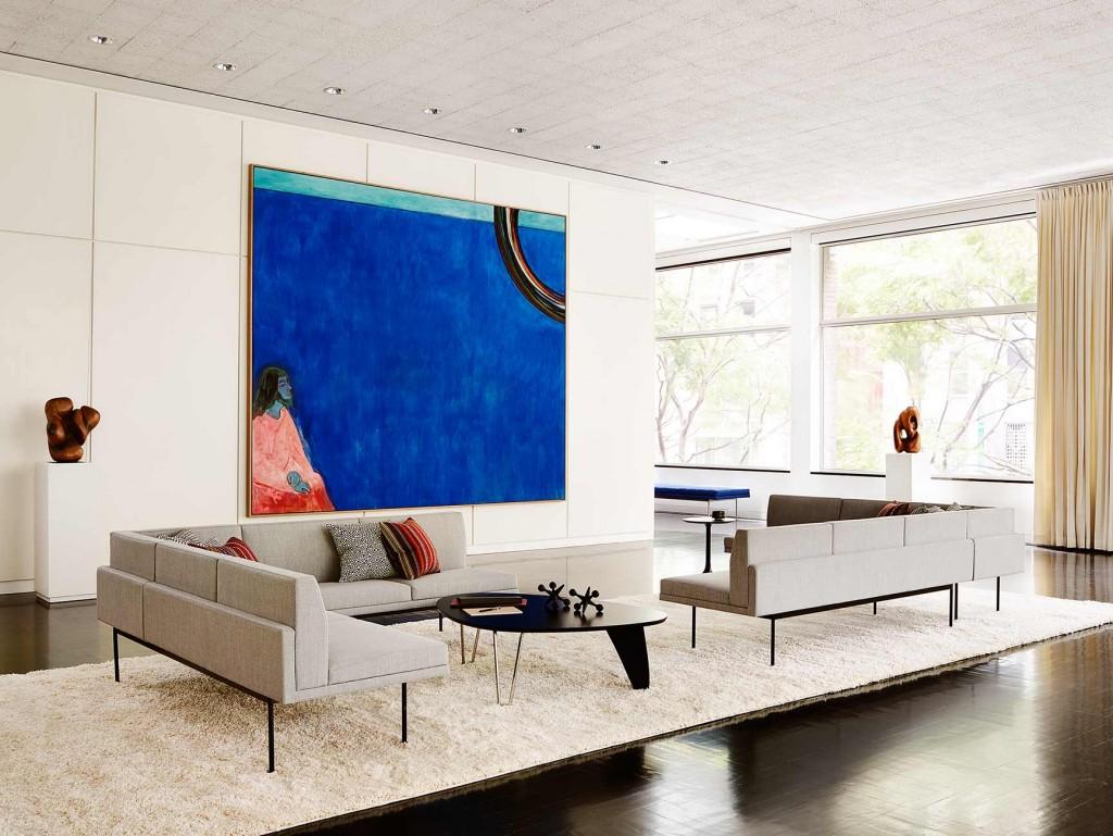 living-lounge-05 Tuxedo Component Table Lounge, Noguchi Rudder Table